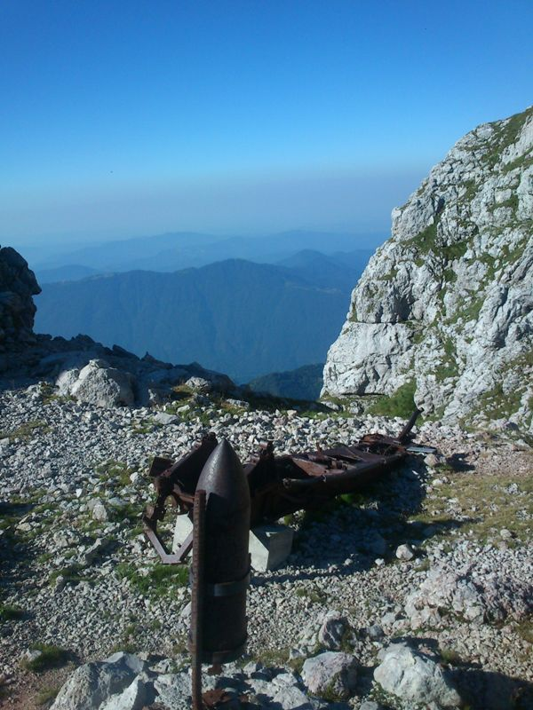 Sedlo pod Krnom s pogledom na Primorsko