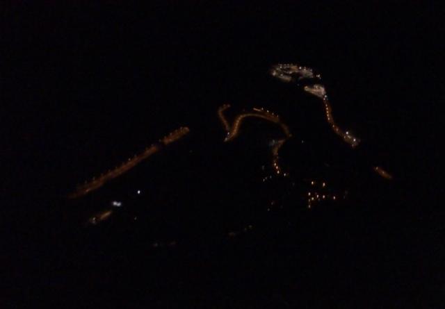 Nocni pogled na vstop v tunel