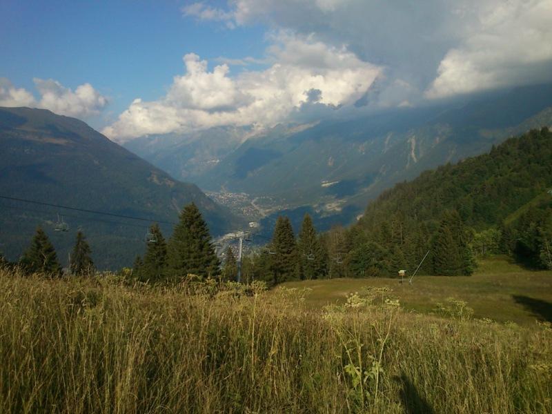 Prvi vzpon_pogled na Chamonix