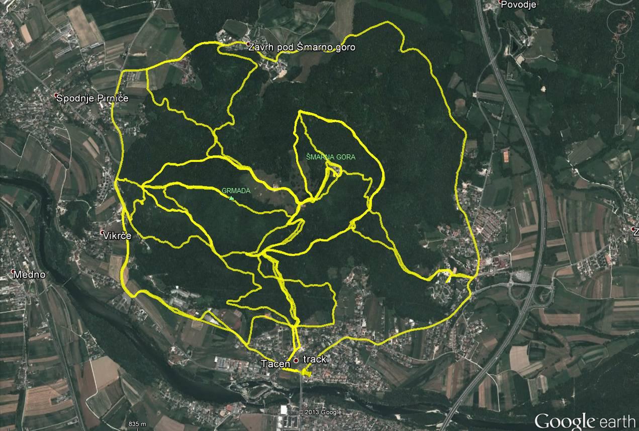 Track_Šmarna gora_maraton